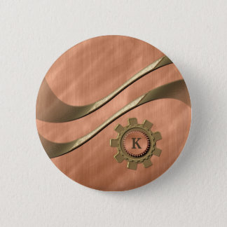 Gears on Copper Button