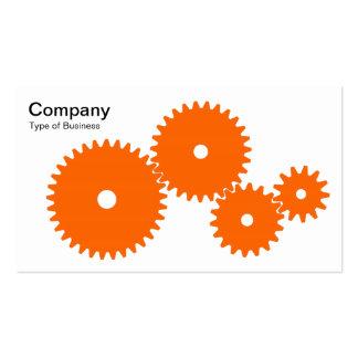 Gears - Orange on White Business Card