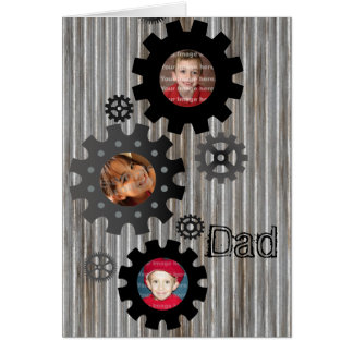 Gears Photo Frame Father's Day Card