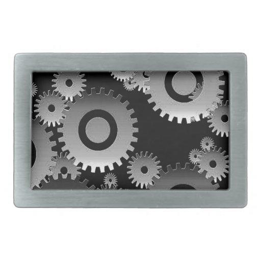 gears rectangular belt buckles