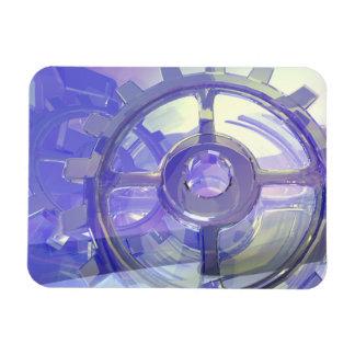 Gears Rectangular Photo Magnet