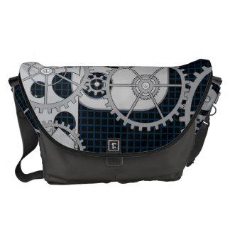 Gears Robotic Machinery Messenger Bag