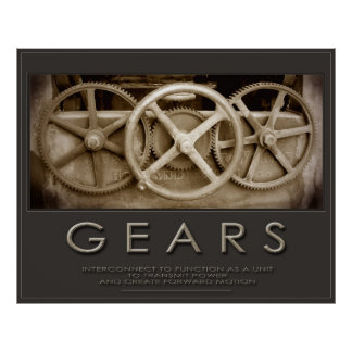 GEARS Size: Huge 50x60 or Smaller Sizes too Poster