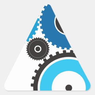 Gears Triangle Sticker
