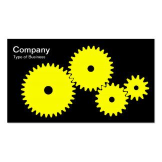 Gears - Yellow on Black Business Card