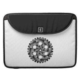 Gearwheel in black and white sleeve for MacBook pro