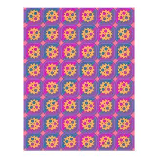 """Gearwheels pattern 8.5"""" x 11"""" flyer"""