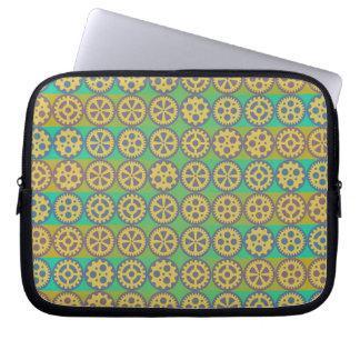 Gearwheels pattern laptop sleeves