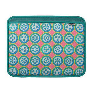 Gearwheels pattern MacBook sleeve
