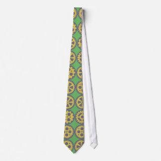 Gearwheels pattern tie