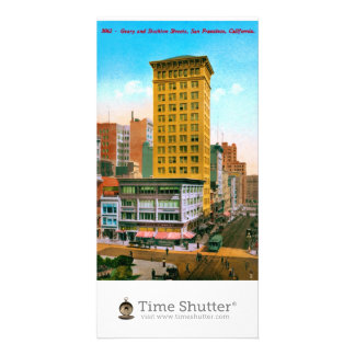 Geary and Stockton Streets Personalized Photo Card