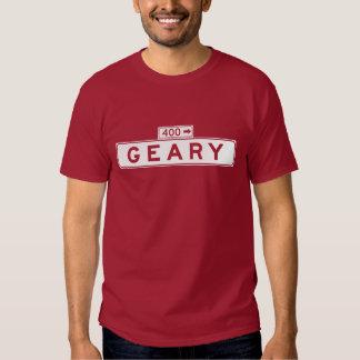 Geary Blvd., San Francisco Street Sign Tee Shirt