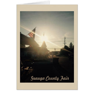 Geauga County Fair, Ohio Greeting Card