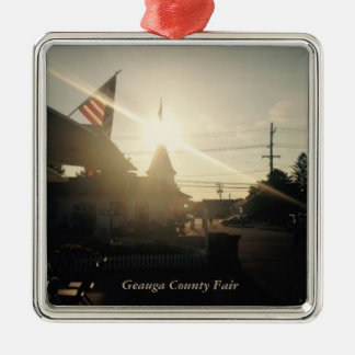 Geauga County Fair, Ohio Holiday Card Metal Ornament