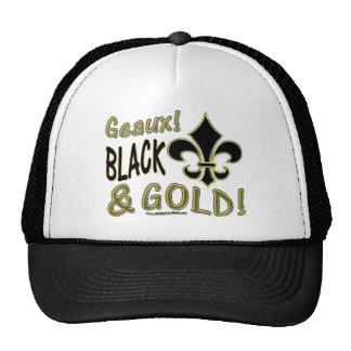 ¡Geaux Blac y oro! Gorra