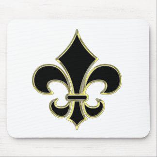 Geaux Black & Gold Fleur De Lis Mousepad
