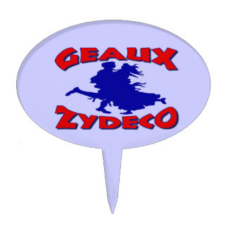 Geaux Zydeco Small Plastic Sign Cake Topper