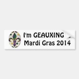 """""""Geauxing to Mardi Gras 2014"""" Bumper Sticker"""