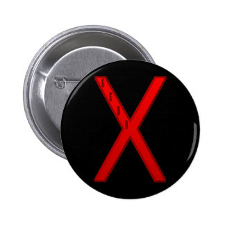 Gebo Rune red Button