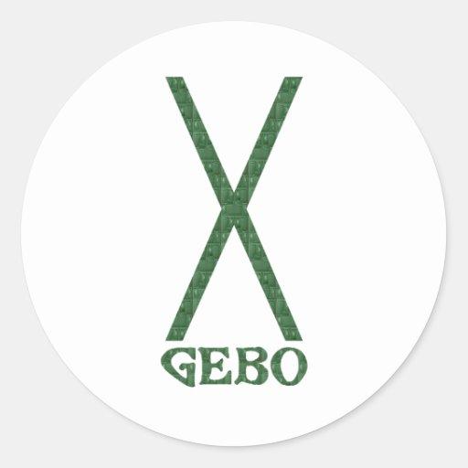Gebo Round Sticker