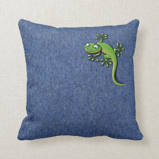 Gecko 2 throw pillows