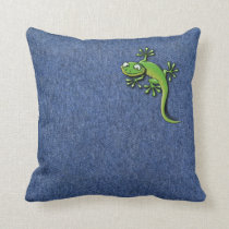 Gecko 2 throw pillow