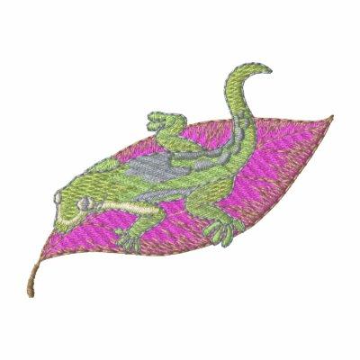 Gecko alineado del día camiseta polo