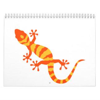 Gecko anaranjado calendarios