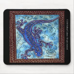 Gecko azul Mousepad Tapetes De Ratones