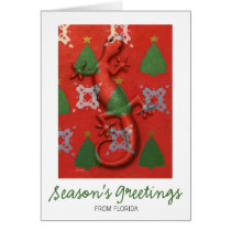 Gecko Christmas card