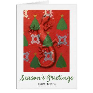 Gecko Christmas card