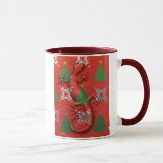 Gecko Christmas mug