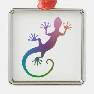 Gecko colorido adornos