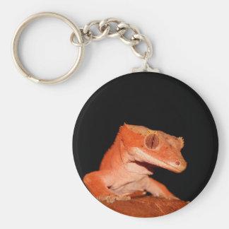 gecko con cresta llavero redondo tipo pin