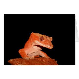 gecko con cresta tarjeta de felicitación