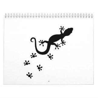 Gecko corriente calendarios de pared