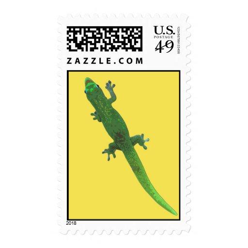 Gecko de Digitaces en sello