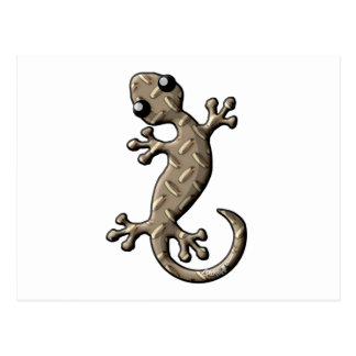 Gecko de la placa del diamante tarjeta postal