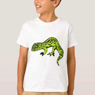Gecko de la verde lima y del negro playera