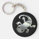 Gecko de plata llaveros personalizados
