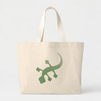 Gecko de Poetica en verde Bolsa Tela Grande