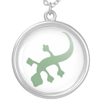 Gecko de Poetica en verde Colgante Redondo
