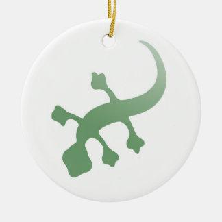 Gecko de Poetica en verde Adorno Para Reyes