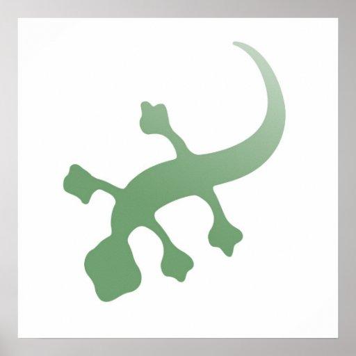 Gecko de Poetica en verde Impresiones