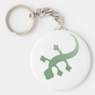 Gecko de Poetica en verde Llavero Redondo Tipo Pin