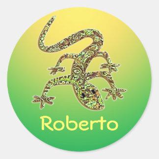 Gecko de Roberto pegatina del Salamander del lagar