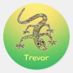 Gecko de Trevor/pegatina del Salamander/del Pegatina Redonda