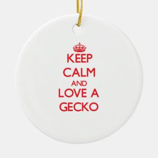 Gecko Adorno De Navidad