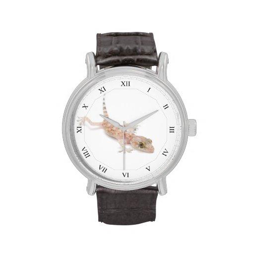 Gecko del bebé con los números romanos relojes de mano