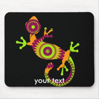 gecko del estallido alfombrillas de ratón